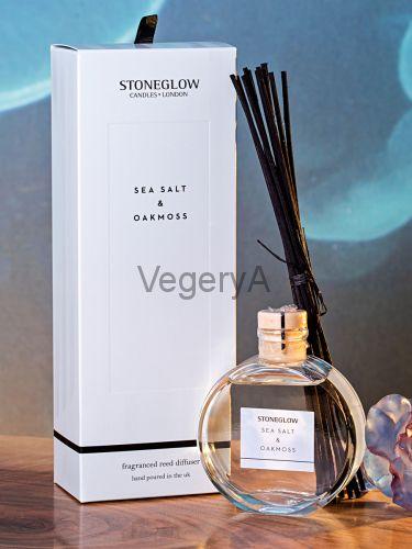 Диффузор Морская соль и белый мох 120мл StoneGlow Современная классика