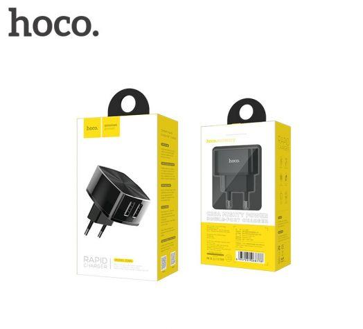 Сетевое зарядное устройство HOCO C26A Mighty power, 2xUSB, черный