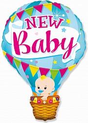 Шар (36''/91 см) Фигура, Воздушный шар для мальчика, Голубой, 1 шт.