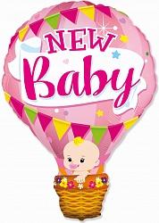 Шар (36''/91 см) Фигура, Воздушный шар для девочки, Розовый, 1 шт.
