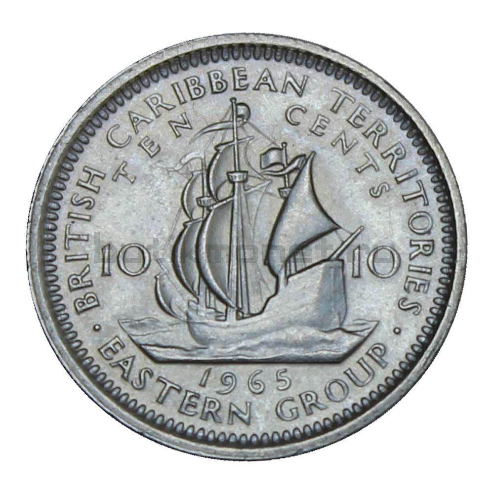 10 центов 1965 Восточные Карибы