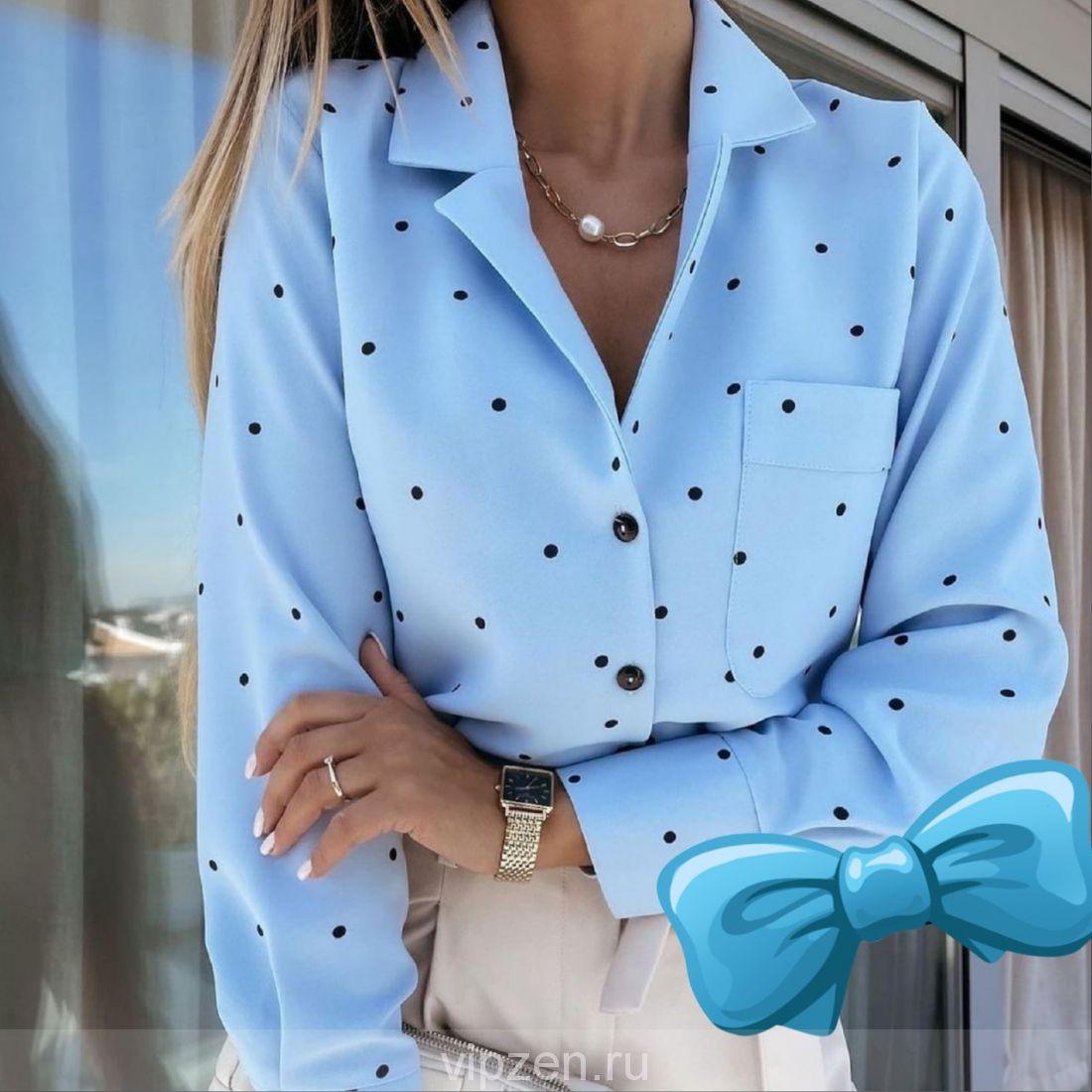 Топовые блузы в горошек