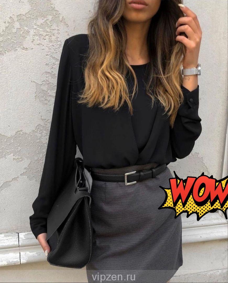 Блуза без пуговиц 2ка из лайта