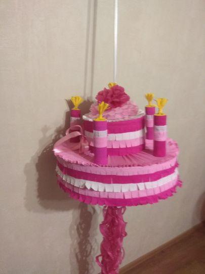 Пиньята торт со свечками