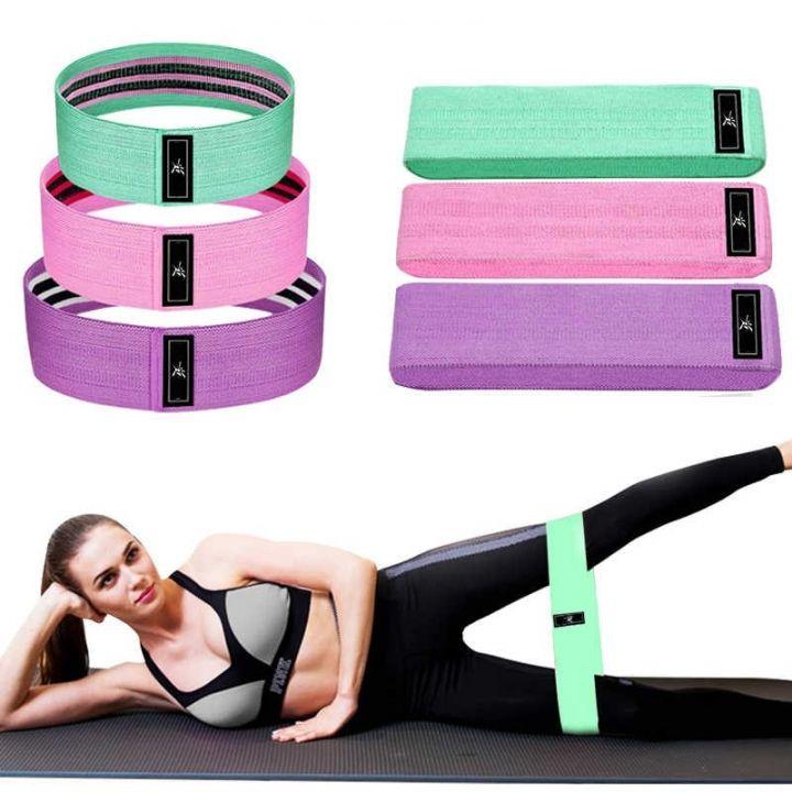 Тканевые резинки для фитнеса Luting Fit, 3 шт для тренировок с различной силовой нагрузкой.