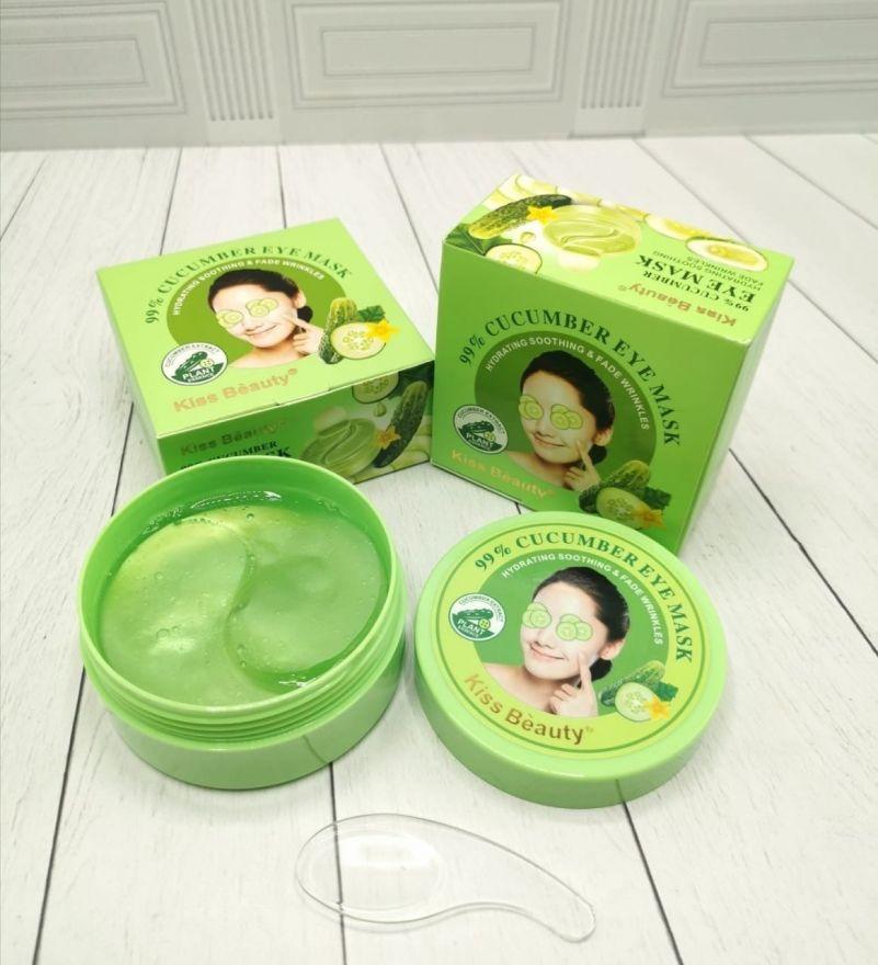 Гидрогелевые патчи для глаз от усталости Kiss Beauty Cucumber Eye Mask Eye Patch Hydrogel 60шт (7160)