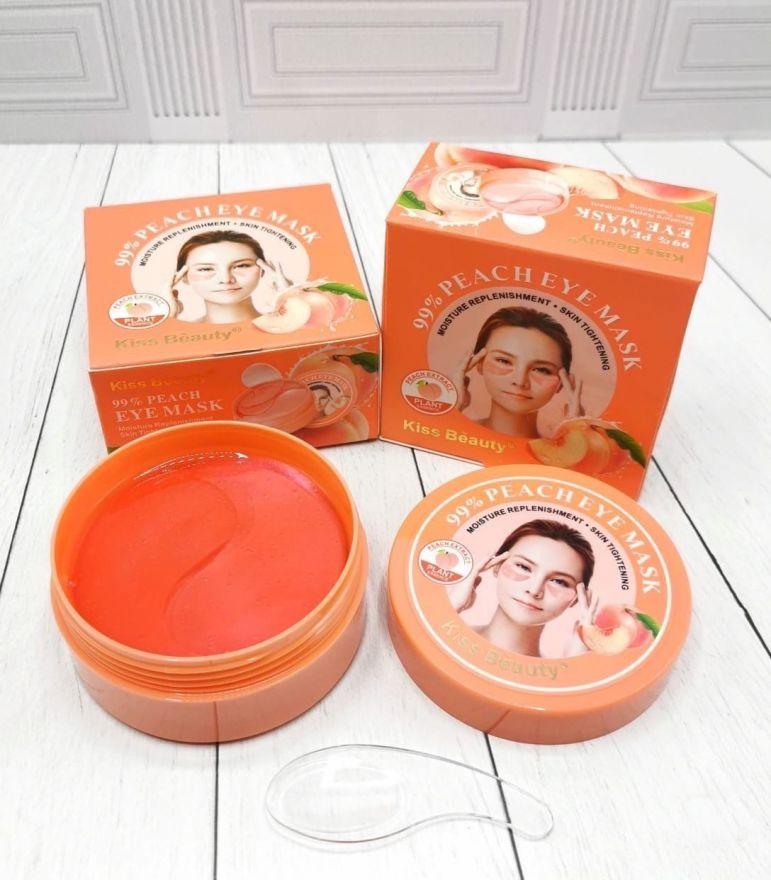 Гидрогелевые патчи для глаз для увлажнения и питания Kiss Beauty Peach 60 шт (7160)
