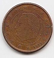 5 евроцентов Бельгия 1999 регулярная из обращения