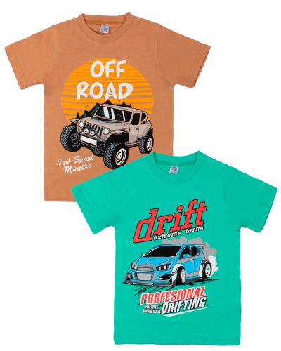"Футболка для мальчика Bonito kids ""Drift"" 4-8 лет"