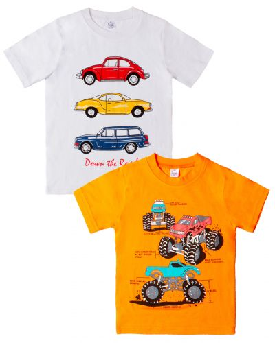 "Футболка для мальчика Bonito kids ""Cars"" 4-8 лет"