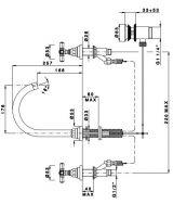 Смеситель для раковины вентильный Nicolazzi Agora 2308 схема 1