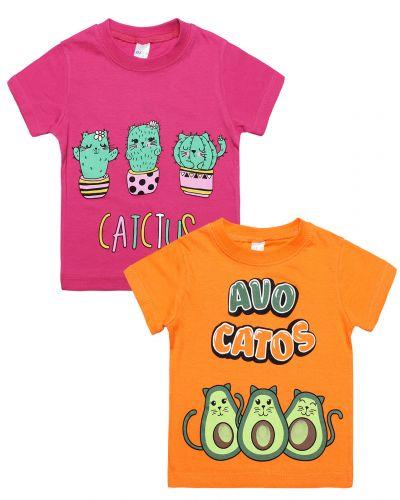 """Футболка для девочки 1-4 года Dias kids """"AvoCatos"""""""