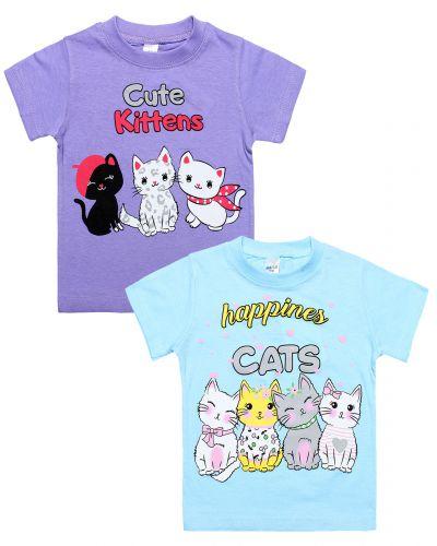 "Футболка для девочки 1-4 года Dias kids ""Kittens"""