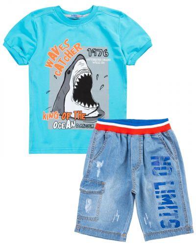"""Костюм для мальчика 8-12 лет Bonito """"Shark"""" лазурный"""