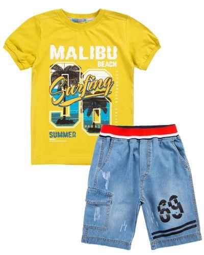 "Костюм для мальчика 8-12 лет Bonito ""Malibu beach"" горчичный"