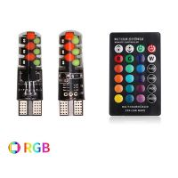 Светодиодные лампочки T10-RGB с пультом управления