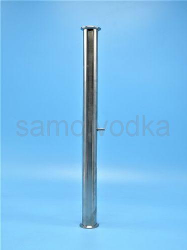 """Царга под кламп 1,5"""" 50 см с носиком под термометр"""