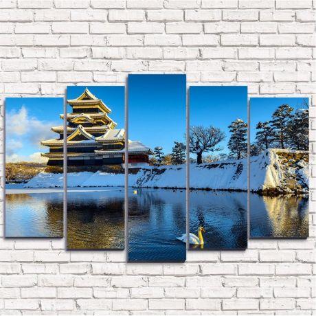Модульная картина Япония зимой