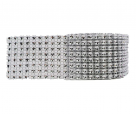 фото Стразовая лента (сетка из страз) 40 мм CYZQ.40.silver