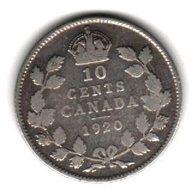 Канада 10 центов 1920