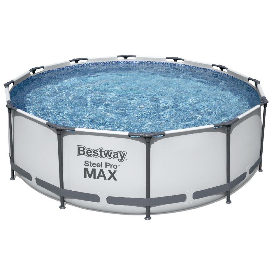 Каркасный круглый бассейн Bestway 56418 (366х100 см) с картр. фильтром и лестницей