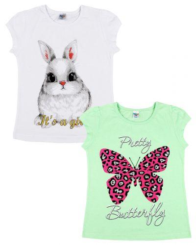 "Футболка для девочек Dias kids ""Butterfly"" 4-8 лет"