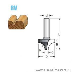 Фреза радиусная врезная R 6,3 D 19 B 13 хвостовик 12 WPW RV06002