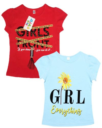 """Футболка для девочек Dias kids 8-12 лет """"Girl front"""""""