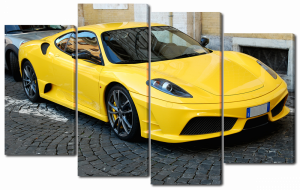 Модульная картина Желтая феррари