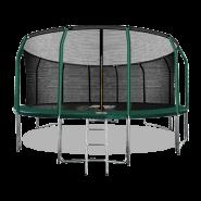 Батут Arland 16FT премиум с внутренней страховочной сеткой и лестницей (Dark green)