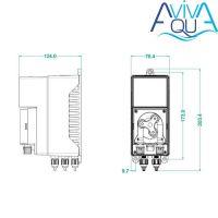 Дозирующий насос AquaViva (Seko) Cl/PH 7 л/ч (KTHX1H07M1000) с авто-дозацией, регулир.скор.
