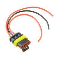 RK04106 * Разъем 3-х контактный гнездовой с проводами сечением 0,5 кв.мм, длина 120 мм
