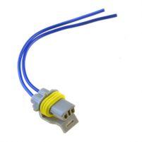 RK04112 * Разъем к датчику положения коленвала, компрессору для а/м VES,  боковому указазателю поворотов для а/м 1117-1119, подсветке номера а/м 2190-2194 (с проводами сечением 0,75 кв.мм, длина 120 мм)