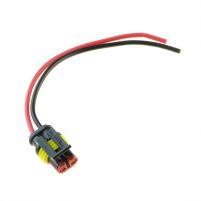 RK04123 * Разъем к соленоиду блокировки заднего хода, поворотнику блок-фары а/м 1117-1119, фонарям габаритных огней ГАЗ/КАМАЗ/ПАЗ/Иномарок (с проводами сечением 0,75 кв.мм, длина 120 мм)