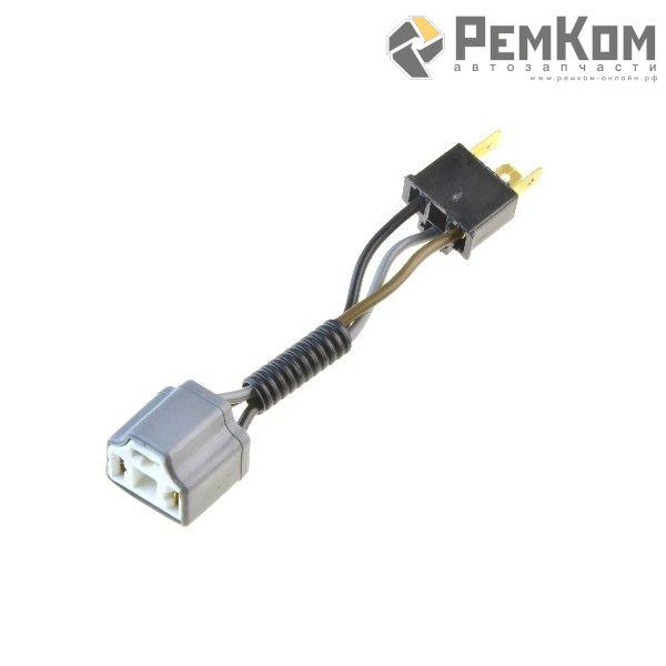 RK04127 * Разъем под лампы H4, R2 керамический (с проводами сечением 1,0 кв.мм, длина 120 мм) с ответной частью - разъемом штыревым