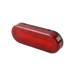 Светодиодный овальный габаритный фонарь для прицепа (красный)