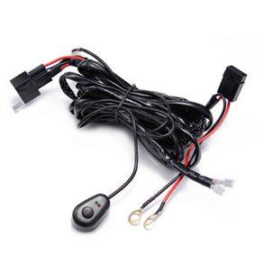 Комплект проводки на два подключения для фар до 1000 вт без штекеров с медными клемами