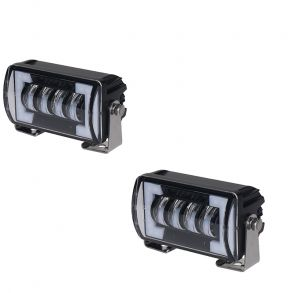 Светодиодные фары дополнительного ближнего света комплект 48W с ДХО