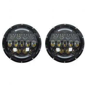 Светодиодные фары головного света 7 дюймов 210Вт с ДХО и поворотниками