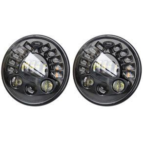 Светодиодные фары головного света 7 дюймов 160Вт с ДХО и поворотниками