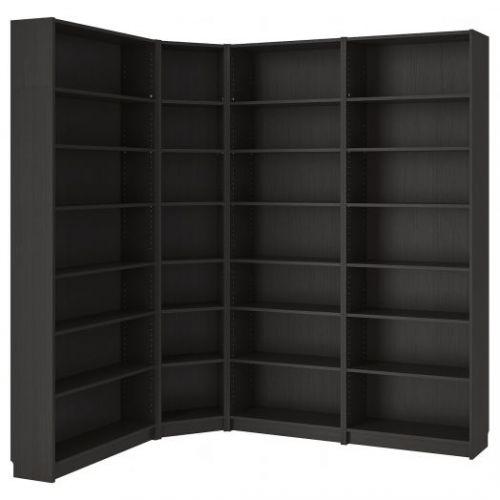 BILLY БИЛЛИ, Стеллаж, черно-коричневый, 215/135x28x237 см - 892.439.91