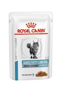 Влажный ветеринарный корм для кошек Royal Canin Sensitivity Control Chicken with Rice (Сенситивити Контрол цыпленок и рис пауч) 85г.