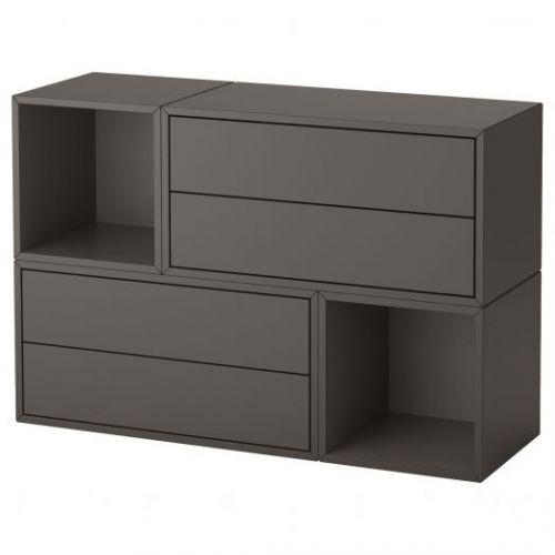 EKET ЭКЕТ, Комбинация настенных шкафов, темно-серый, 105x35x70 см - 393.264.94