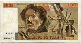 Франция 100 франков 1979
