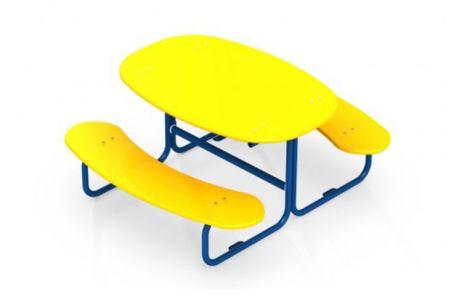 Столик со скамейками АМФ-2.03
