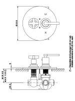 Встраиваемый смеситель для душа Nicolazzi Impero 4909 схема 1