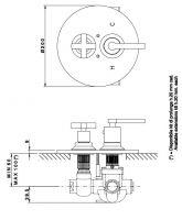 Встраиваемый смеситель Nicolazzi 4909 для душа схема 1