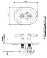 Смеситель для душа Nicolazzi Tradizionale 4909 схема 1