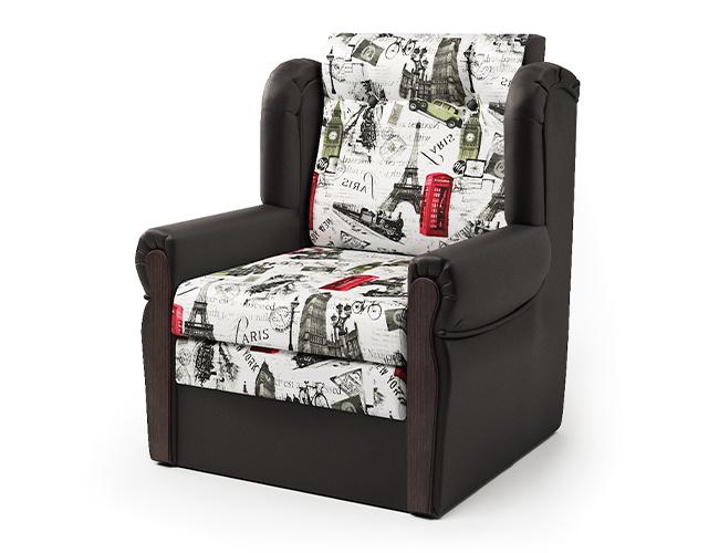 Кресло-кровать Классика-М шоколад и велюр