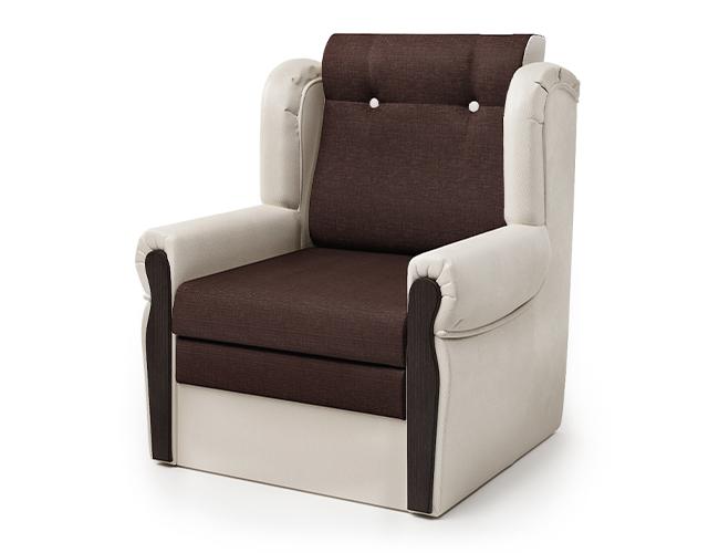 Кресло-кровать Классика-М экокожа беж и рогожка